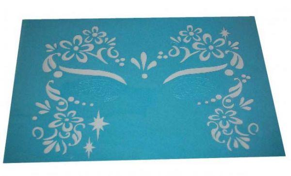 Schminke Schablonen Blumen Sterne Birnen Vorlagen