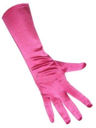 Handschuhe Satin Stretch Luxus 40 cm rosa
