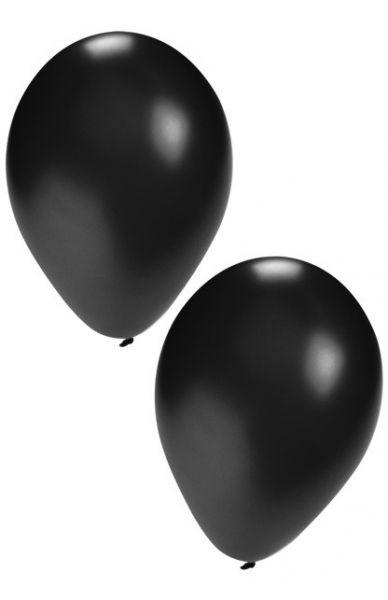 Schwarze Heliumballons