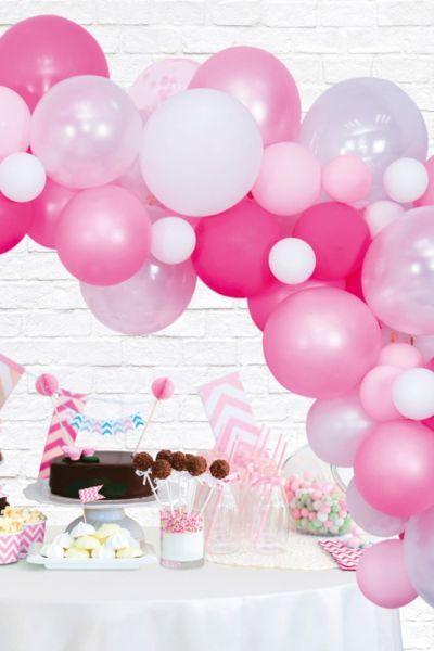 Luftballons Dekoration Kit Pink Professional Ballonbogen