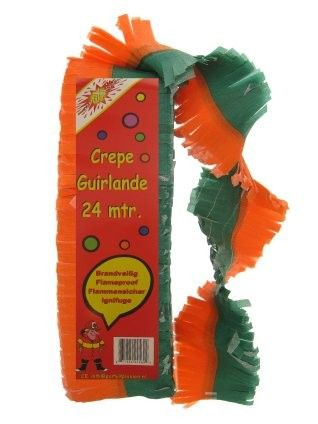 Crepe Garlands feuerfeste Orange Grün