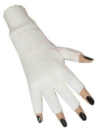 Fingerlose Handschuhe weiß