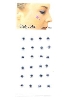 Fancy Gesicht Körper Schmuck Silber Punkt