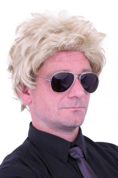 Herren Perücke blonde Haare