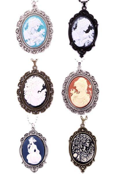 6 Halsketten Cameo