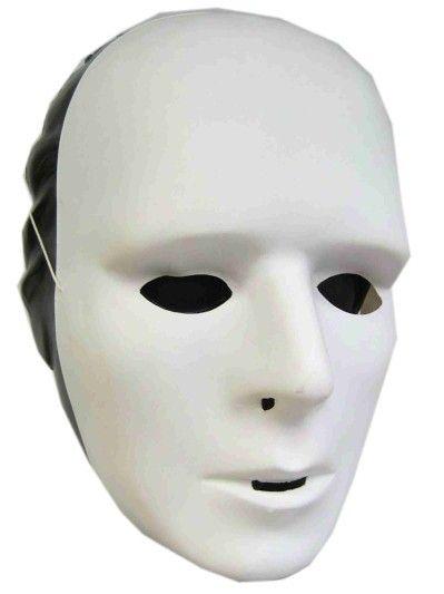 Make-up-Maske aus weißem Kunststoff