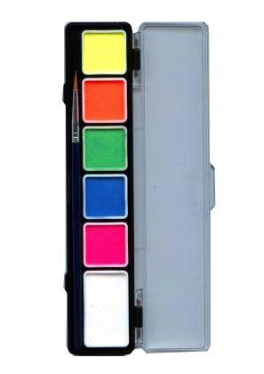 Schminkpalette 6 Neonfarben PartyXplosion