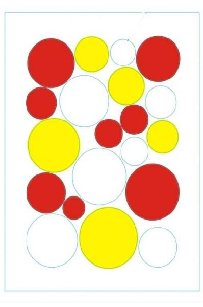 Fensteraufkleber Konfetti geschreddert rot weiß gelb