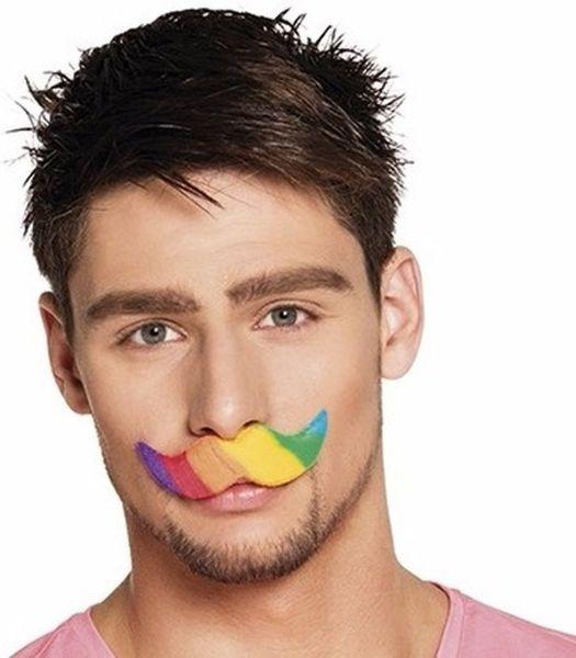 Regenbogenschnurrbart Gay Pride