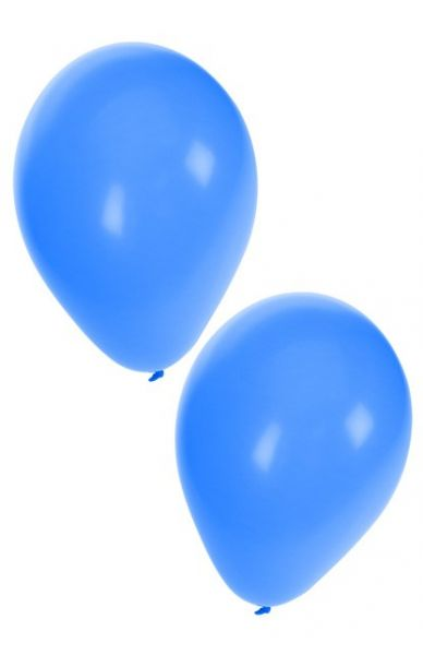 Blaue Heliumballons
