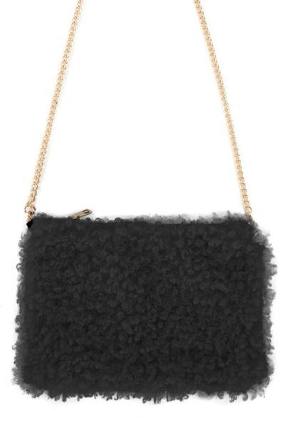 Tasche lockig schwarz
