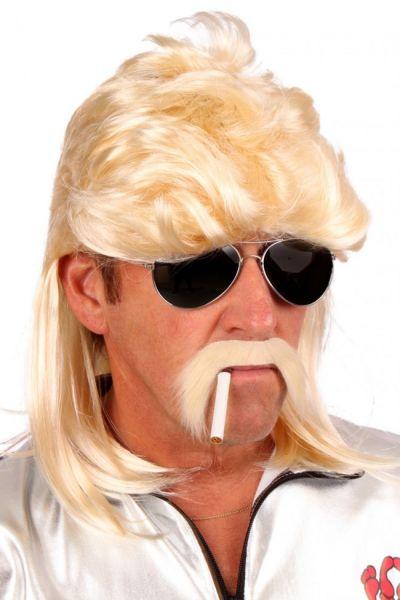Herren Perücke blond Matte