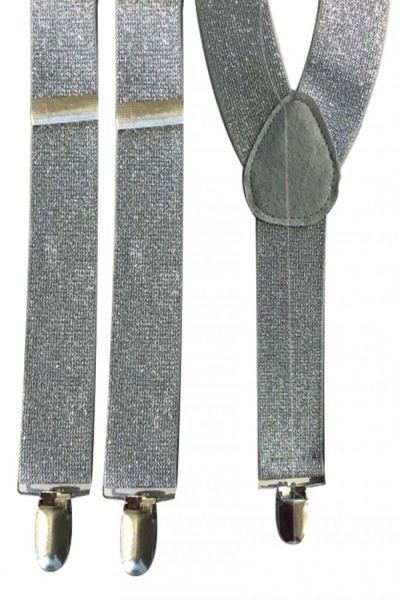 Hosenträger Silber Lurex