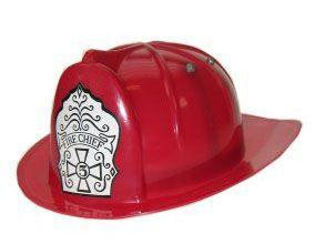 Roter Feuerwehrhelm aus Kunststoff