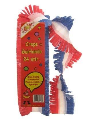 Krepp Girlande gedruckten rot weiß blau
