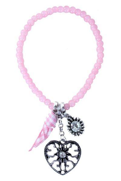 Oktoberfest Dirndl Wiesn Armband rosa Perlen