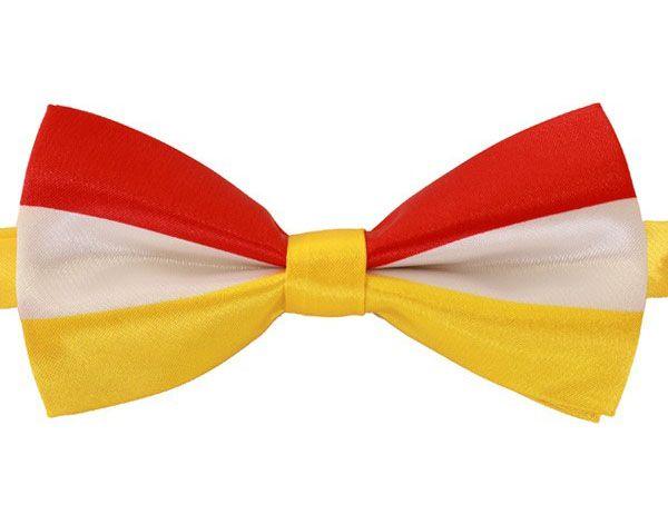 Luxus Fliege rot weiß gelb