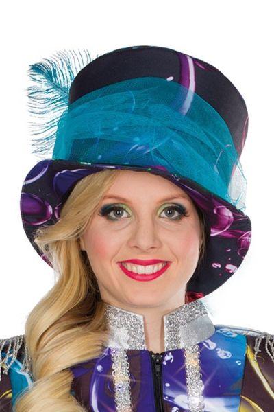 Damen-Hut Bubble Seifenblasen bunt