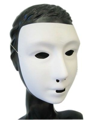 Grimeer Maske mit weißer Kreide Schicht
