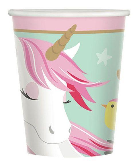 48 Unicorn Einhornbecher 266 ml Papier