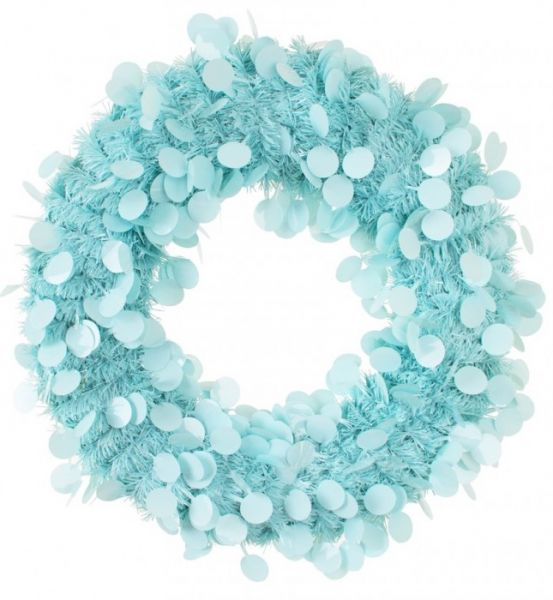 Türkranz 45 cm Blau