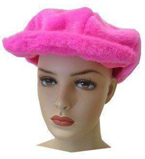 Plüsch rosa Kappe