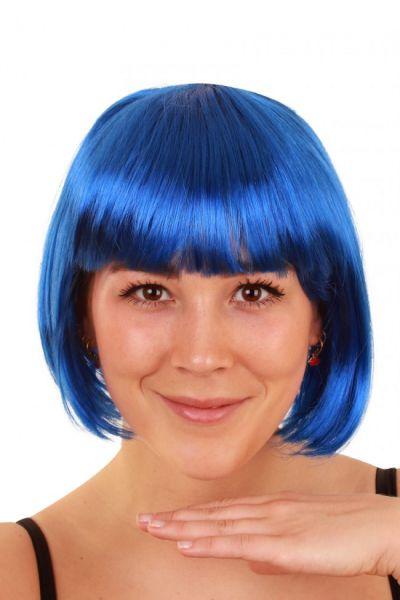 Perücke Bobline Perücke blau