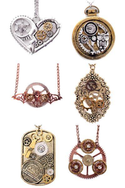 6 Steampunk Halsketten