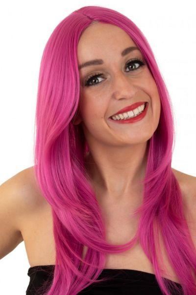 Damen Perücke pink waschbar