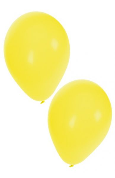 Gelbe Heliumballons