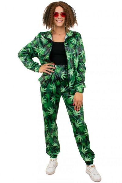 Trainingsanzug Cannabis Leaf Print Damen