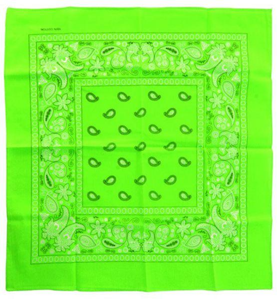 Fluor grüne Taschentücher Bandana mit Muster