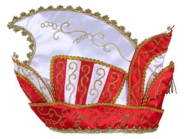 Fürsten Stich Köln Hut rot weiß Goldspitze