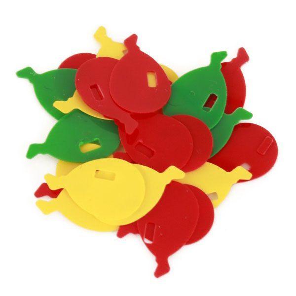 Fasching Konfetti Luftballons 6 mm rot gelb grün