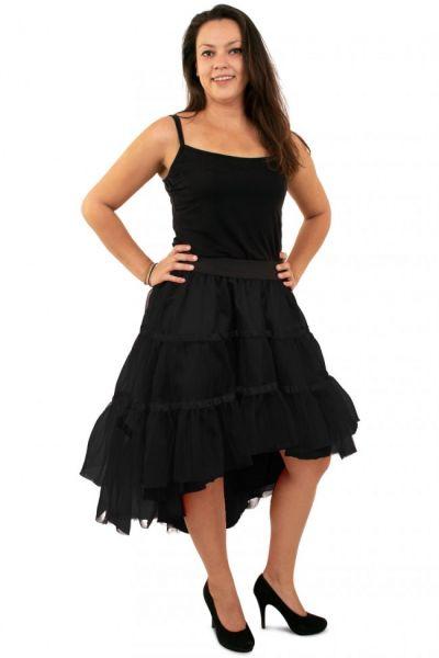 Schwarzer Petticoat schräg