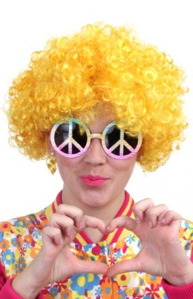Hippie Perücke gelb
