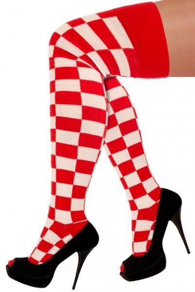 Lange Socken Köln rot weiß kariert