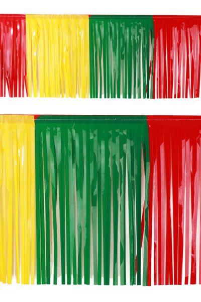 PVC-Schnüre der Foliengirlande rot gelb grün Fasching