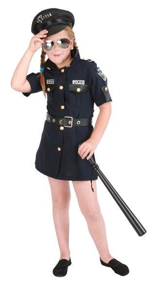 Faschingskostüm Mädchen Polizei Kostüm
