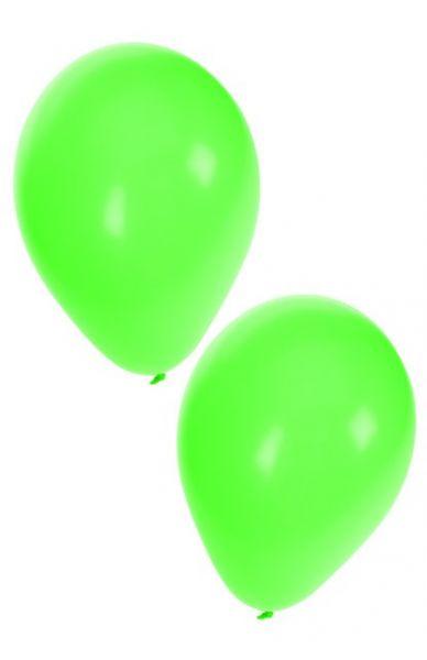 Grüne Heliumballons