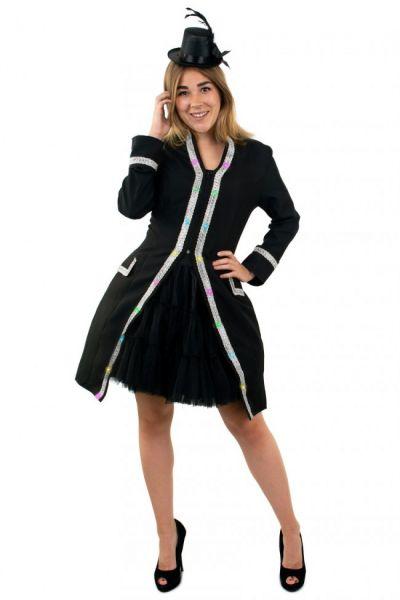 LED Jacke für Damen Faschingsjacke mit Silberborte