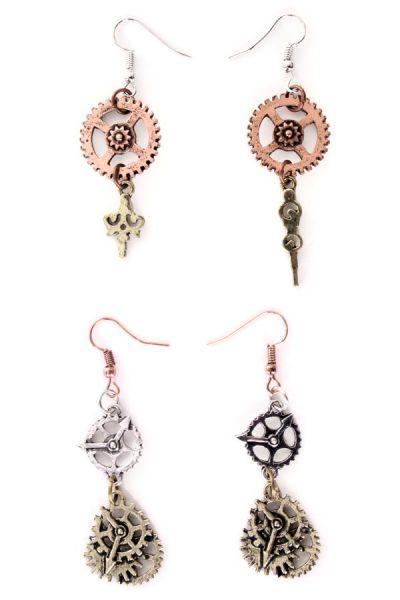 2 Paar Steampunk Ohrringe