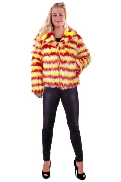 Pelzmantel lange Haare Karneval Damen Mantel