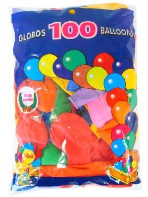 Heliumballone sortierte Farben 100 Stück Nr.10