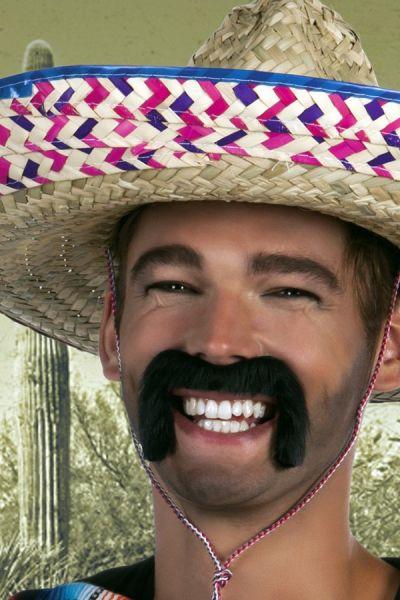 Mexikanischer Schnurrbart schwarz