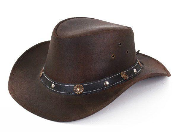 Leder braun Cowboyhut