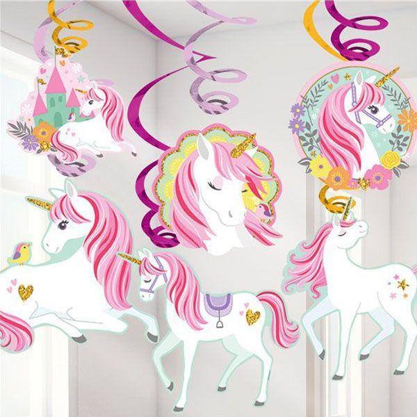 Wirbel Dekoration Einhorn Unicorn
