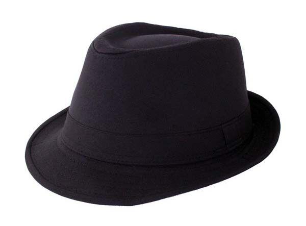 Trendy schwarze Gangster Hut