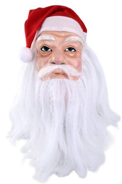 Maske Weihnachtsmann mit Hut und Bart