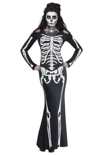 Halloween Skelett Knochen Kleid